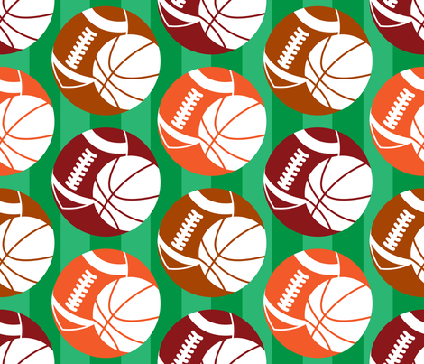 Sports Bubbles fabric by illustrative_images on Spoonflower - custom fabric