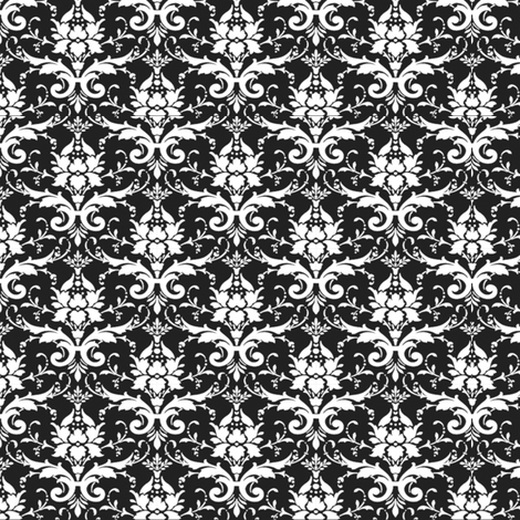 BLACK FLOURISH fabric by bluevelvet on Spoonflower - custom fabric