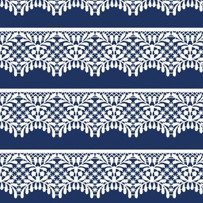 Lace (on navy)