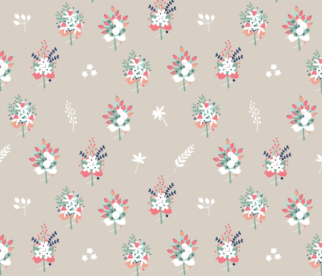 Boutonniere (mist) fabric by cerigwen on Spoonflower - custom fabric