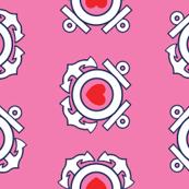 Pink Coastie Hearts