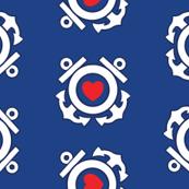 Blue Coastie Hearts