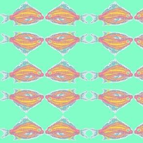 tropical fish aqua background