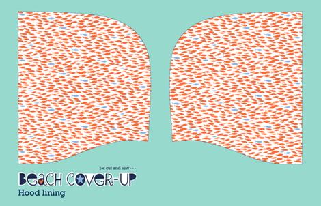 Beach cover-up: hood lining (mermaids) fabric by cerigwen on Spoonflower - custom fabric