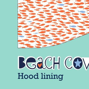 Beach cover-up: hood lining (mermaids)
