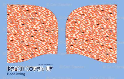 Beach cover-up: hood lining (shoal)