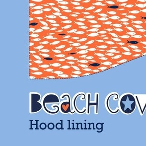 Beach cover-up: hood lining (shoal)