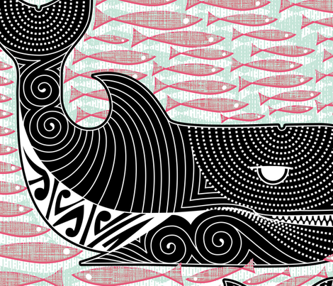 Orca Dreaming fabric by spellstone on Spoonflower - custom fabric