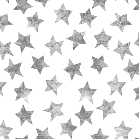 Starry Watercolor Dreams in Grey fabric by emilysanford on Spoonflower - custom fabric