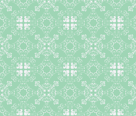 moroccan_pale green fabric by mattieanne on Spoonflower - custom fabric