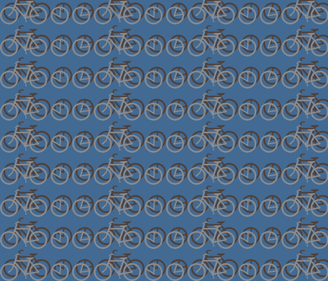 I_Want_to_Ride_My_Bicycle_BLUE_ fabric by mammajamma on Spoonflower - custom fabric