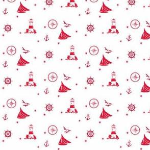 sails and starfish_red