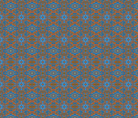 Heart Village Orange and Blue fabric by ccogburn on Spoonflower - custom fabric