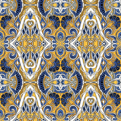 When Paisley Took Over the Parlor fabric by edsel2084 on Spoonflower - custom fabric
