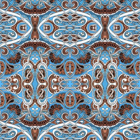Son of a Blue Forest fabric by edsel2084 on Spoonflower - custom fabric