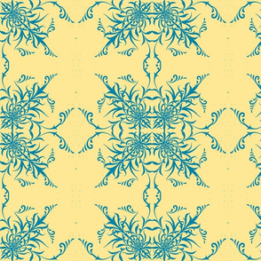 Sunny Yellow/Blue Toile -ch-ch-ch