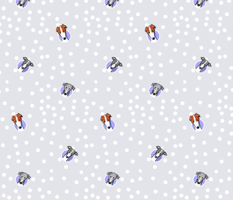 Peek-a-boo Greyhounds fabric by kiniart on Spoonflower - custom fabric