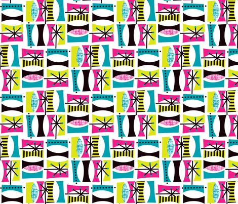 Retro Daze (small scale) fabric by celiaforrester on Spoonflower - custom fabric