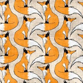Linen Red Fox Stripes