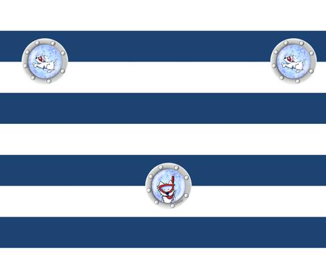 Nautical Westies fabric by kiniart on Spoonflower - custom fabric