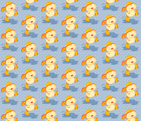 Ducklings in the rain fabric by chantal_pare on Spoonflower - custom fabric
