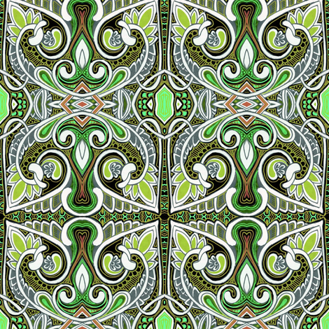 There Be Dragons in this Kingdom fabric by edsel2084 on Spoonflower - custom fabric