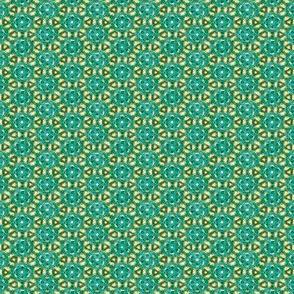 Aqua and Gold Dainties #7