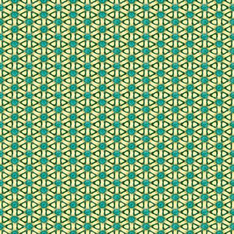 Aqua and Gold Dainties #8 fabric by tallulahdahling on Spoonflower - custom fabric