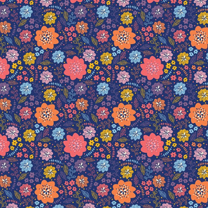 Cute flowers pattern design