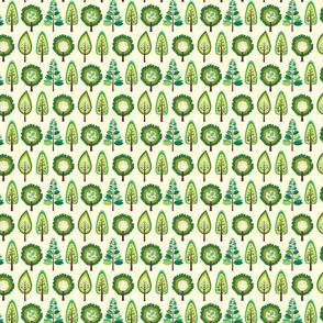 Cute green trees