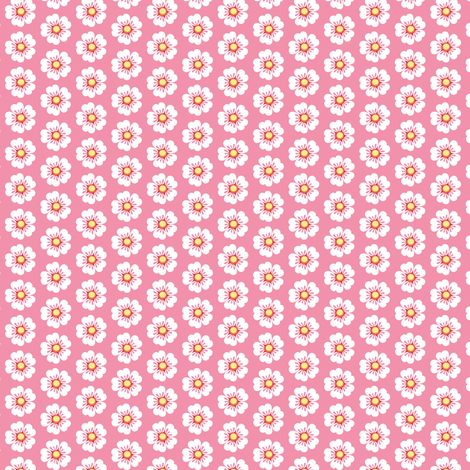 White flowers fabric by petitspixels on Spoonflower - custom fabric