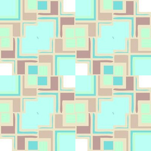 Pastel Mondrianesque -- in mostly aqua