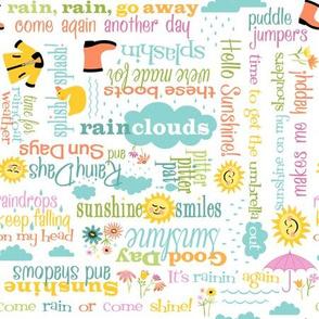Rainy Days Sayings: White