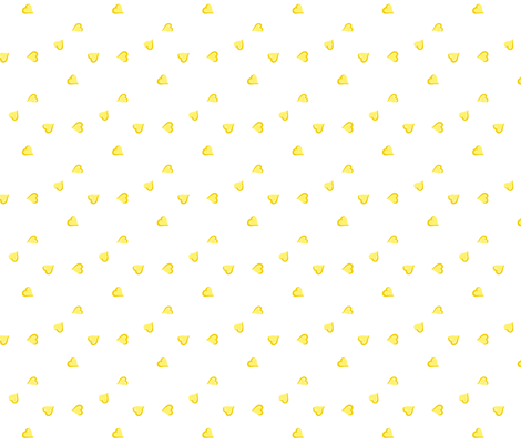 yellow hearts fabric by augustacroft on Spoonflower - custom fabric