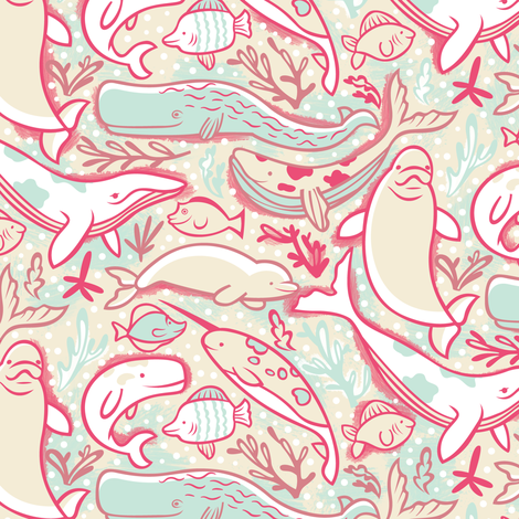 Underwater Pool Party! fabric by smashworks on Spoonflower - custom fabric