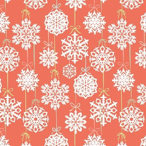 12 Joys of  Christmas Snowflakes: Red