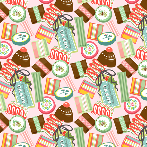 12 Joys of Christmas: Candy fabric by sheri_mcculley on Spoonflower - custom fabric
