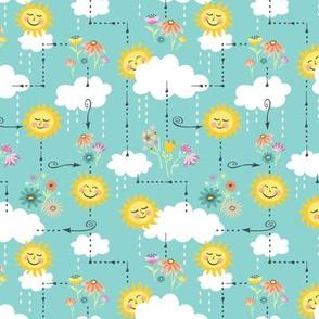 Rainy Days and Sun Days Maze: Blue