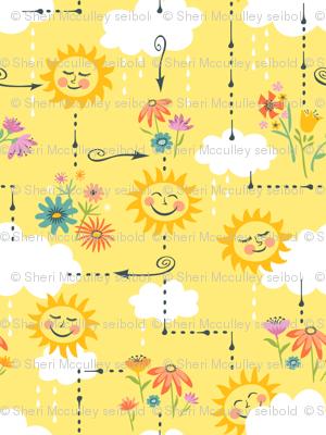Rainy Days and Sun Days Maze: Yellow
