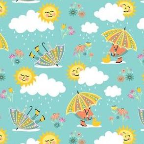 Umbrella Play: Sky Blue
