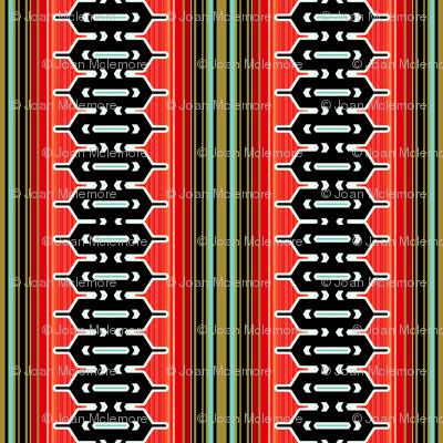 Modern geometric vertical stripe in red