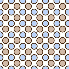 Brown and Blue Dots
