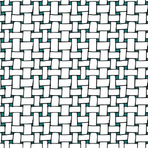 White Weave On Teal