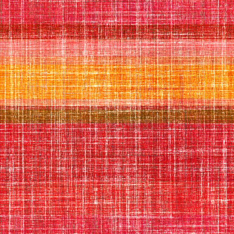 Linen Stripe in Hot Pepper  fabric by joanmclemore on Spoonflower - custom fabric