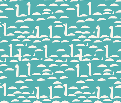 Nessie - Tiffany Blue/Champagne by Andrea Lauren fabric by andrea_lauren on Spoonflower - custom fabric