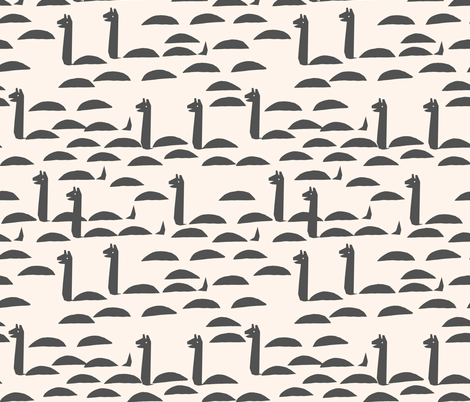 Nessie - Champagne/Charcoal by Andrea Lauren fabric by andrea_lauren on Spoonflower - custom fabric