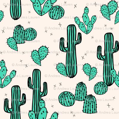cactus // cacti green tropical summer palms prints plants outdoors southwest desert