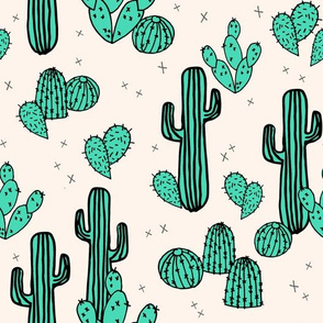 cactus // cacti green tropical summer palms prints plants outdoors southwest desert