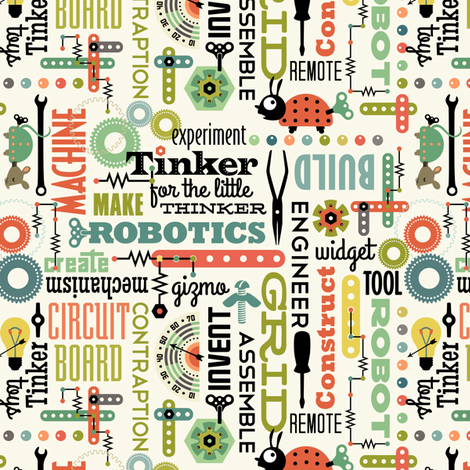 Tinker Talk fabric by sheri_mcculley on Spoonflower - custom fabric
