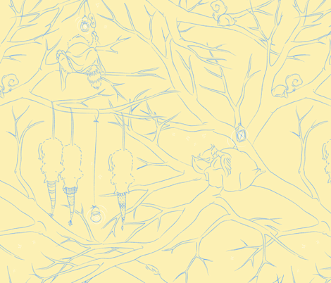 In the Treetops - Naptime fabric by hootenannit on Spoonflower - custom fabric